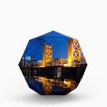 "Tower Bridge - Sacramento, CA Acrylic Award<br><div class=""desc"">Tower Bridge at night from Riverwalk in Sacramento CA</div>"
