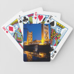 "Tower Bridge - Sacramento, CA Bicycle Playing Cards<br><div class=""desc"">Tower Bridge at night from Riverwalk in Sacramento CA</div>"