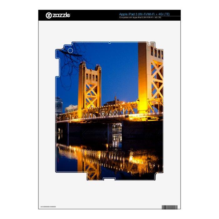 Tower Bridge - Sacramento, CA iPad 3 Skins