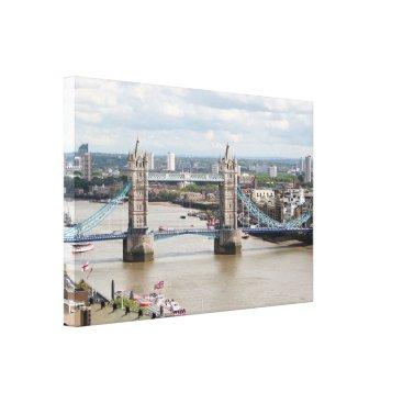 franwestphotography Tower Bridge, Thames River, London, England Canvas Print