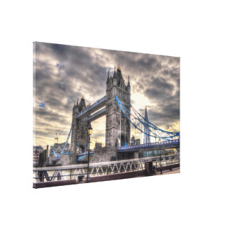 Tower Bridge & The Shard, London, England Canvas Print