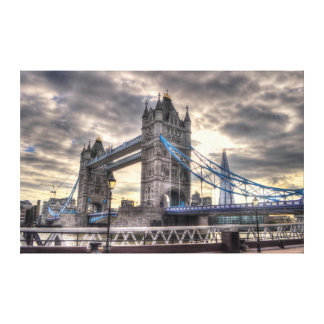 Tower Bridge & The Shard, London, England Canvas Print