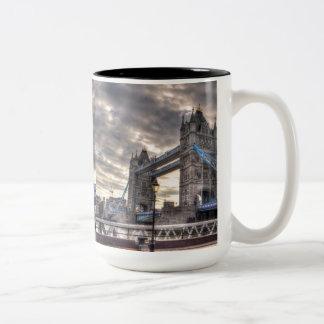 Tower Bridge & The Shard, London, England Two-Tone Coffee Mug