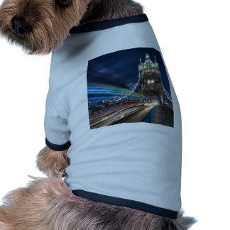 Tower Bridge traffic, London Doggie T-shirt