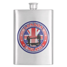 Tower Bridge Vintage Illustration Flask