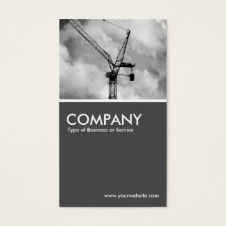 Tower Crane  - 70pc Gray Business Card