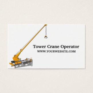 Tower Crane Operator Construction Business Card