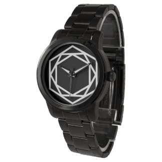 Tower (-) / Custom Oversized Black Bracelet Wristwatch