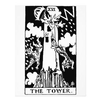 Tower de la carta de tarot tarjeton