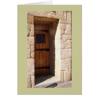 Tower door card