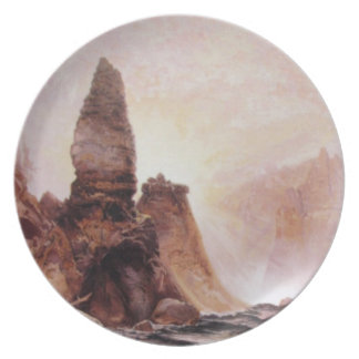 Tower Falls at Yellowstone - 1876 Melamine Plate