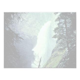 """Tower Falls 4.25"""" X 5.5"""" Invitation Card"""