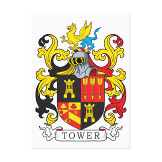 Tower Family Crest Canvas Prints