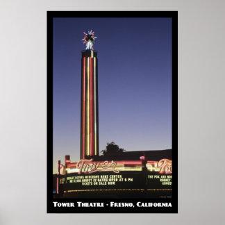 Tower, Fresno Poster