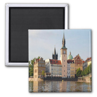 Tower In Prague 2 Inch Square Magnet