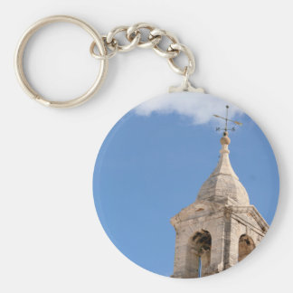 Tower in the Clouds keychain