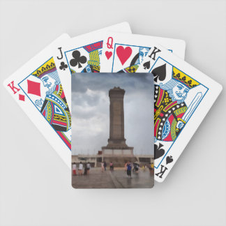Tower in Tiananmen Square in Beijing Bicycle Playing Cards
