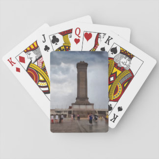 Tower in Tiananmen Square in Beijing Playing Cards