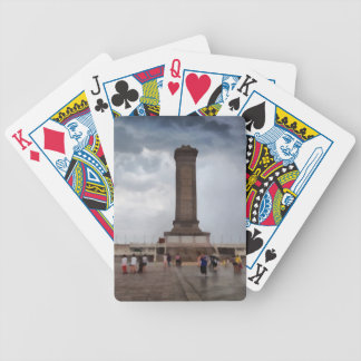 Tower in Tianmen Square in Beijing Bicycle Playing Cards