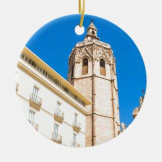 Tower in Valencia, Spain Ceramic Ornament