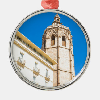 Tower in Valencia, Spain Metal Ornament