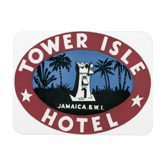 Tower Isle Hotel Jamaica_Vintage Travel Poster Magnet