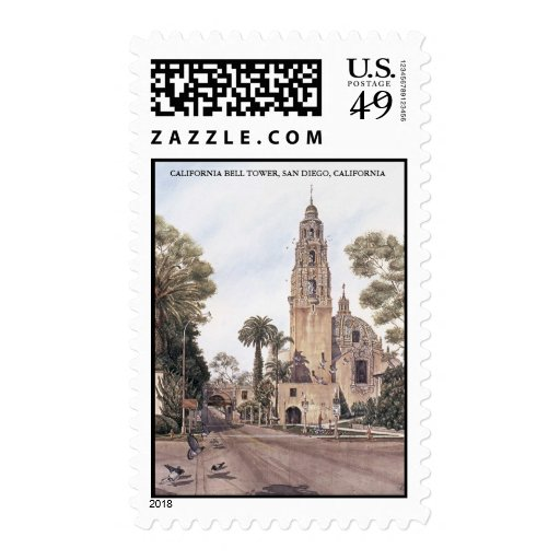 TOWER JPEC, CALIFORNIA BELL TOWER, SAN DIEGO, C... STAMPS