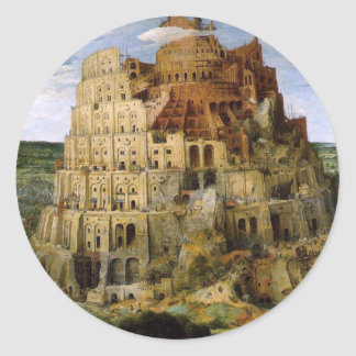 Tower of Babel - 1563 Classic Round Sticker