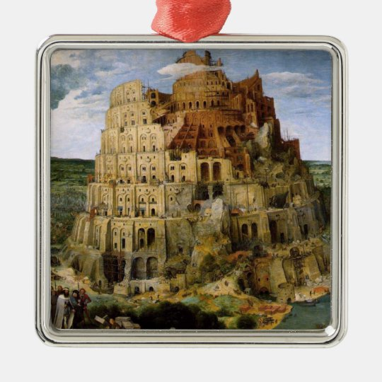 Tower of Babel - 1563 Metal Ornament