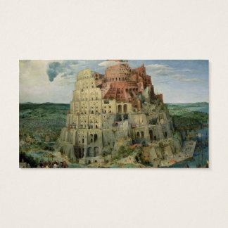Tower of Babel, 1563 (oil on panel) Business Card