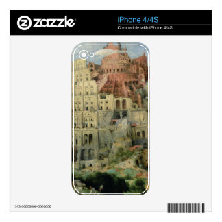 Tower of Babel, 1563 (oil on panel) iPhone 4 Skins