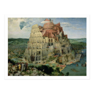 Tower of Babel, 1563 (oil on panel) Postcard