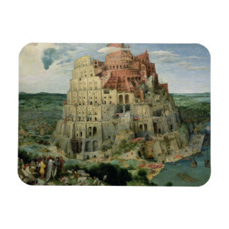 Tower of Babel, 1563 (oil on panel) Rectangle Magnet