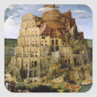 Tower of Babel - 1563 Square Sticker