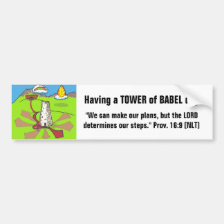 Tower of Babel Bumper Sticker