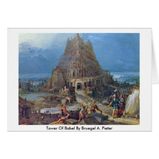 Tower Of Babel By Bruegel A. Pieter Greeting Card