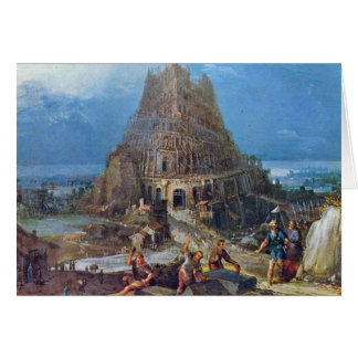 Tower Of Babel By Bruegel D. Ä. Pieter Cards