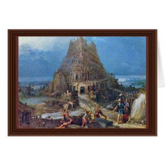 Tower Of Babel By Bruegel D. Ä. Pieter Greeting Cards