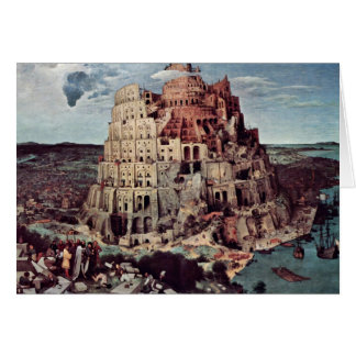 Tower Of Babel,  By Bruegel D. Ä. Pieter Greeting Card