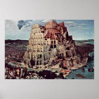 Tower Of Babel,  By Bruegel D. Ä. Pieter Print