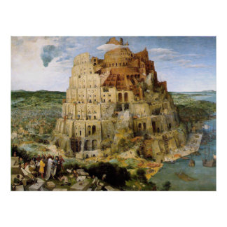 Tower of Babel by Brueghel Poster