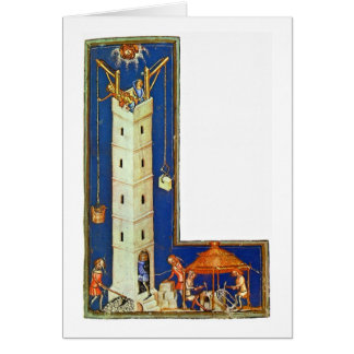 Tower Of Babel By Master Of The World Chronicle Greeting Card