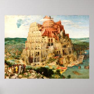 """""""TOWER OF BABEL"""" by Pieter Bruegel the Elder Poster"""