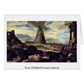 Tower Of Babel By Toeput Lodewyk Greeting Card