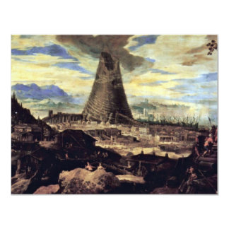 Tower Of Babel By Toeput Lodewyk 4.25x5.5 Paper Invitation Card
