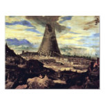 Tower Of Babel By Toeput Lodewyk Invitations