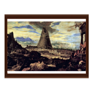 Tower Of Babel By Toeput Lodewyk Postcard