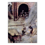 Tower Of Babel Detail By Bruegel A. Pieter Greeting Card