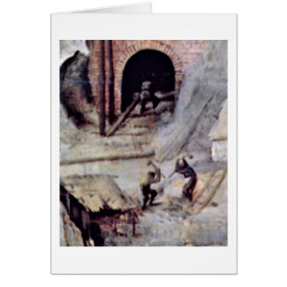 Tower Of Babel Detail By Bruegel A. Pieter Greeting Cards