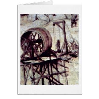Tower Of Babel Detail By Bruegel A. Pieter Cards